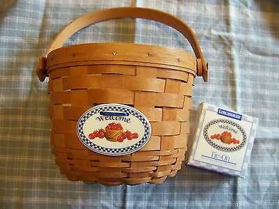 Longaberger Basket with Tie-On - Small Apple Basket - 1990