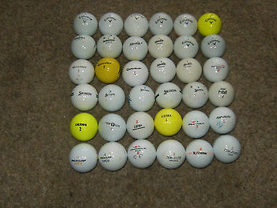 """36 x  """"MIXED"""" inc Callaway/Srixon/Taylormade balls in Practice condition"""