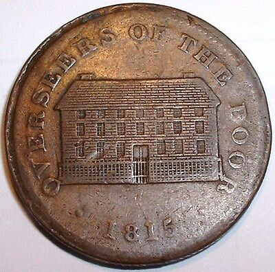 Rare 1815 British - Sheffield Penny Token - Overseers of the Poor - NO RESERVE