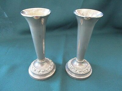 Matching Pair of Decorated S.P. Vases from England, Vintage