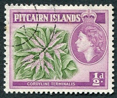 PITCAIRN ISLANDS 1957-63 1/2d SG18 used NG Cordyline terminalis #W12