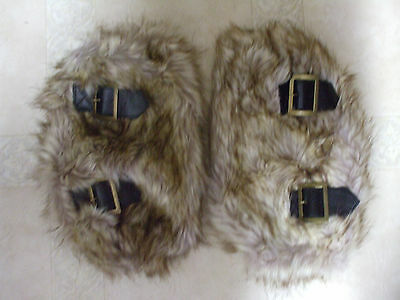 Women Winter Warmer Faux Fur Soft Lower Leg Muffs Boot Shoes Ankle Sleeves Cover