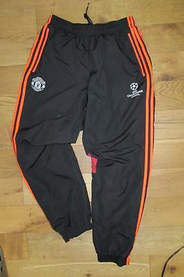 Mens Adidas Manchester United Tracksuit Bottoms Trousers 2015 Football Large