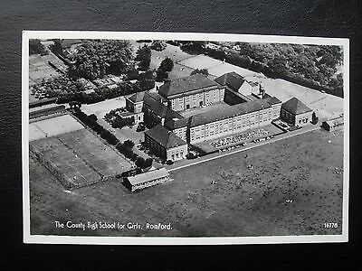 Romford County High School for Girls Real Photo Postcard Aero Pictorial Air view