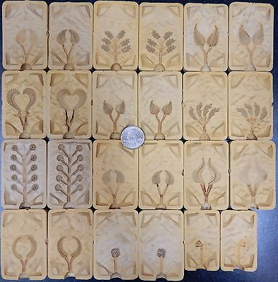 Multiple Jewelry Rubber Leaf Flower Molds Injection Production Casting Lot #2