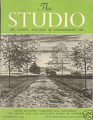 The Studio. Swiss Painting . Art Magazine Feb 1955