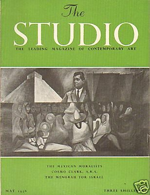 The Studio. Mexican Muralists. Art Magazine May 1956