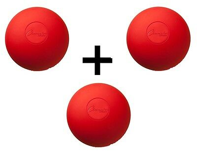 Champion Sports NCAA/NFHS Official Size Rubber Lacrosse Ball, Red (3-Pack)