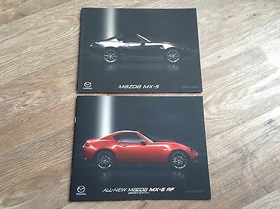NEW 2017 MAZDA MX-5 RF Launch Edition & MX-5 Range Brochures (12 & 44 pages)