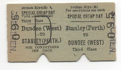 BR (H) Return Ticket Stanley (Perth) to Dundee (West)