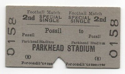 BR (H) Single Ticket Possil to Parkhead Stadium Glasgow