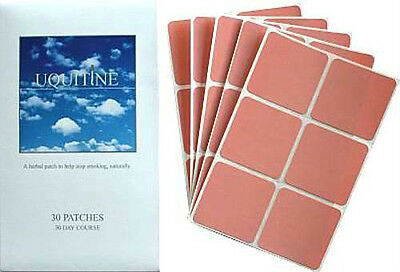 Uquitine Natural STOP SMOKING PATCH Patches Quit NON No Nicotine