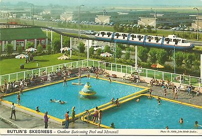 Butlins Skegness The Outdoor Swimming Pool & Monorail John Hinde Ltd 3Sk41 Pc