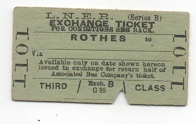 LNER Exchange Ticket from Rothes - ex GNSR
