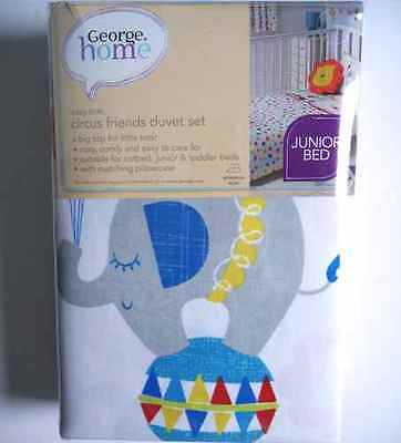 Lovely George Home Kids Junior Bed Circus Friends Duvet Cover Set (Cotbed) *new*