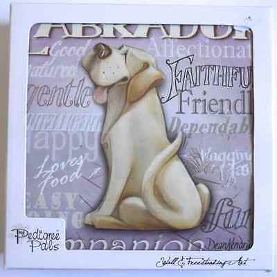 Lovely Pedigree Pals Labrador Dog Wall & Freestanding Art Plaque Pic *new*
