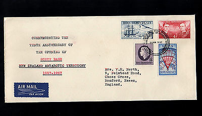 Ross New Zealand 1957 - 1967 Scott Base Complete Set First Day Cover With Cds