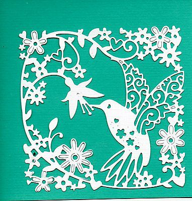 New Tattered Lace Hummingbird Tapestry Frame Die Cuts - Bird Topper- Garden