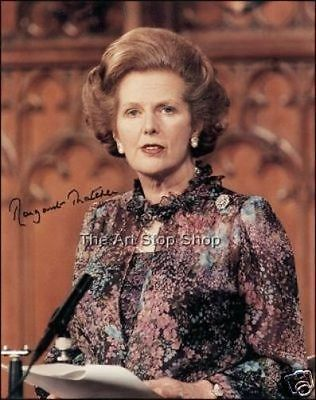 Margaret Thatcher signed photo print