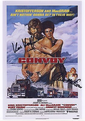 Convoy signed movie poster print
