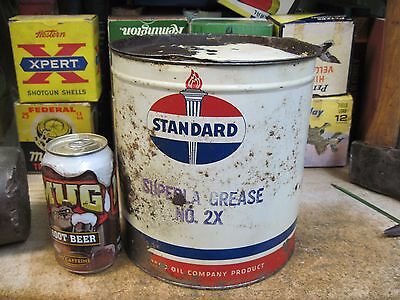 Standard Oil Co 10 Pound Superla Grease Can Original Empty Service Station