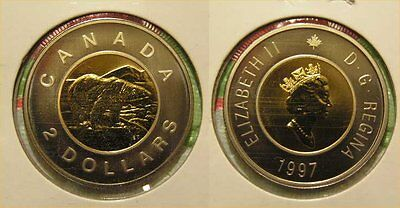 1997 Canada Two Dollar $2.00 Twoonie Specimen Proof