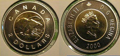 2000 Canada Two Dollar $2.00 Twoonie Specimen Proof