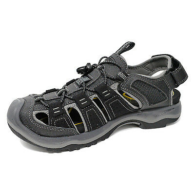 Keen Men's Rialto H2 Adjustable Fashion Sandals - Black/Gargoyle
