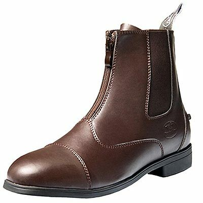 10 Size Brown New Devonaire Ladies North Park Zip Paddock Shoes Boot