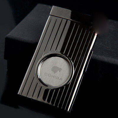 COHIBA Pocket High Quality Stainless Steel Single Blade Guillotine Cigar Cutter