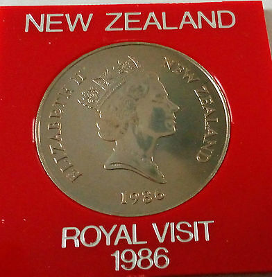 "1986 ONE DOLLAR 1$ NEW ZEALAND ""ROYAL VISIT"" GGC Coin Collection"