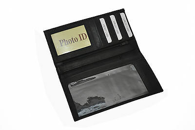 Checkbook Money Credit Card Holder Black Three In One Great New Gift Idea