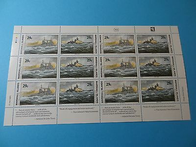 MH Marshall Islands * SC 327-28 WWII * Battle of Barents Sea* MNH Sheet 12*  W54