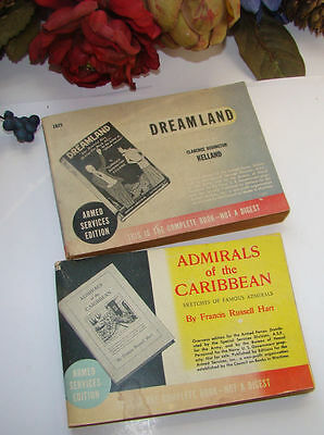 Early Vintage 1935 & 1922 Lot Of 2 Armed Services Edition Books Pocket Size