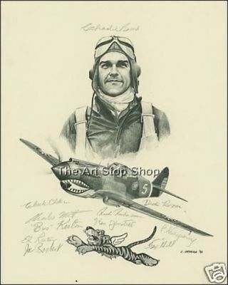 Flying Tigers autograp photo print