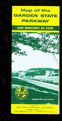 1961 (12th ed.) New Jersey Garden State Parkway foldout travel map