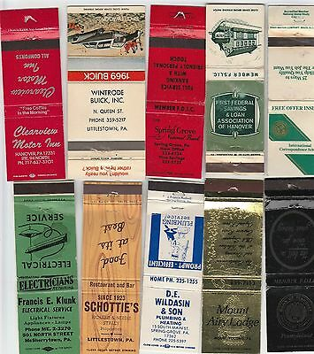 Lot Of 20 Different Pennsylvania Matchbook Covers.  #7