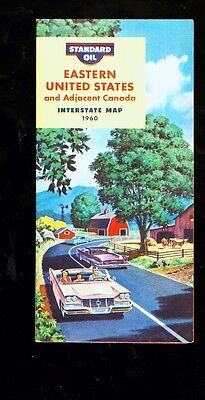 1960 Standard Oil Eastern United States foldout travel map