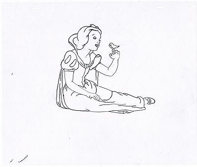 Snow White Disney hand-drawn animation cell former ink and paint artist
