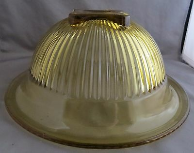"Vintage 10"" Rib Amber Depression Glass Bowl Square Bottom"