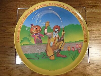 "Vintage 1977 Melamine Ronald McDonald Plate - 10"" diameter Made in USA"