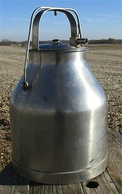 DeLaval Milking Bucket Pail SS Milk Can Surge Stainless Steel Diary Farm Country