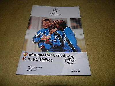 Champions League Group B - Manchester Utd v FC Kosice in 1997 at Old Trafford