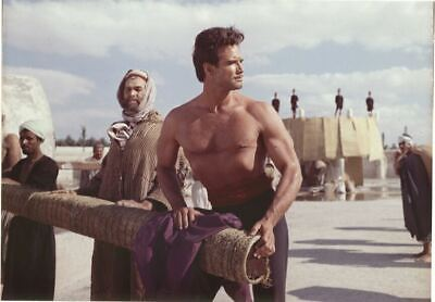 STEVE REEVES barechested muscles bodybuilder THIEF OF BAGHDAD Orig Transparency