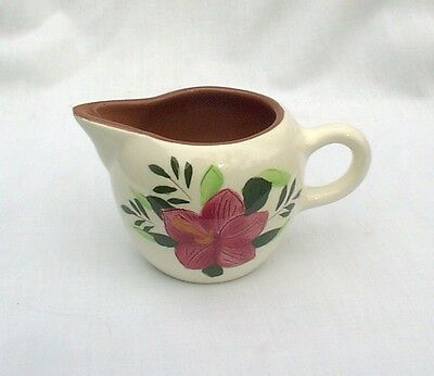 Stangl Country Garden Pink Red Flowers Creamer