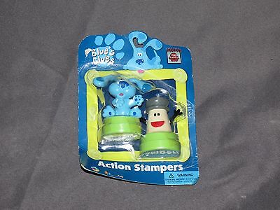 g9 Blues Clues Action Stampers - NEW old stock Blue & Mr. Salt