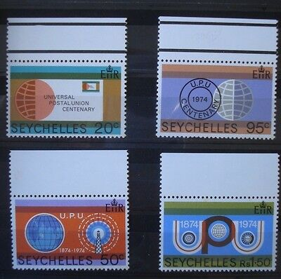 Set of 4 x Seychelles Universal Postal Union stamps (1974)