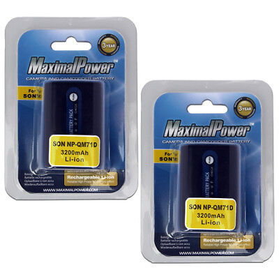 2-Pack MaximalPower™ Battery For Sony NP-QM70 QM71D NP-FM50 NP-FM30 NP-FM70