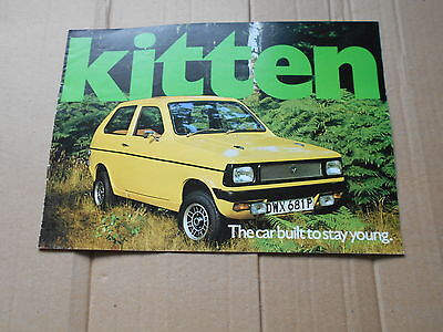 Reliant Kitten original colour sales brochure