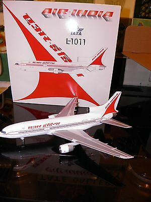 JC wings.scale 1:200 die cast model aircraft. Tristar 500 airline Air India